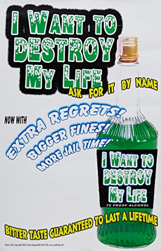 Poster #241 Alcohol Poster, Drinking Message Poster for High School Students, Treatment Programs, Clinics