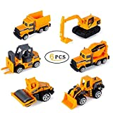 JoyJam Diecast Toy Vehicles, 1:64 Push Toy Car Play Set, Assorted Mini Toy Trucks, Gifts for Boys Girls Kids. (6 PCS)