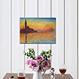 Wieco Art Dusk in Venice by Claude Monet Oil