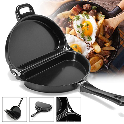 (ThyWay Cook Stove Camping, Non-Stick Omelet Pan Kitchen Breakfast Skillet Egg Frying Maker Portable Outdoor Cooking Equipment)