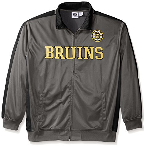 NHL Boston Bruins Men's Tricot Track Jacket, 3X, Charcoal