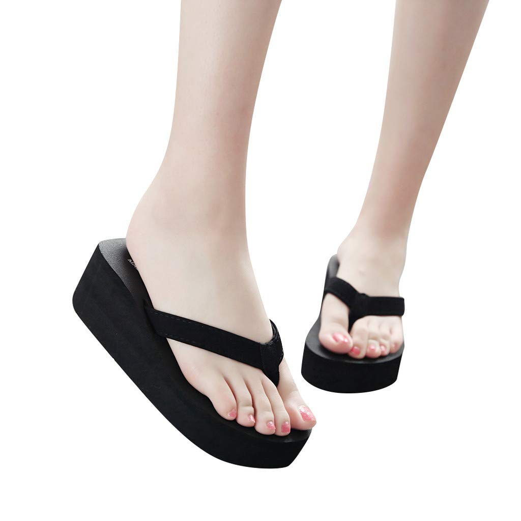 2019 New Womens Sandals Fashionable and Casual Non-Slip Wedge Beach Shoes and Slippers Shoes