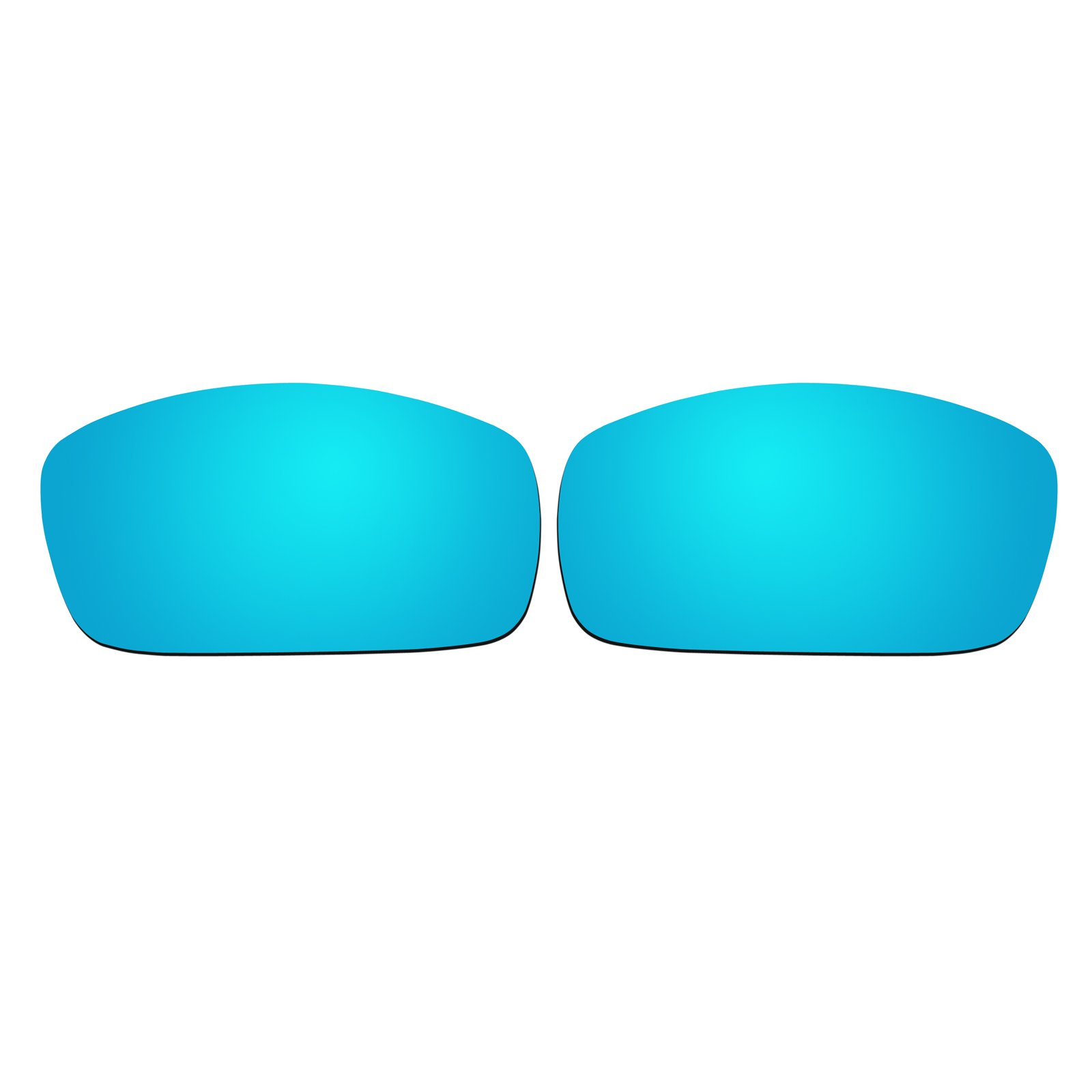 Polarized Replacement Sunglasses Lenses for Spy Optic Logan - Ice Blue Mirror