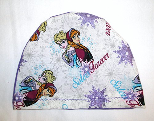 childrens-frozen-sisters-flannel-cap-chemo-hat-alopecia-head-cover-cancer-scarf