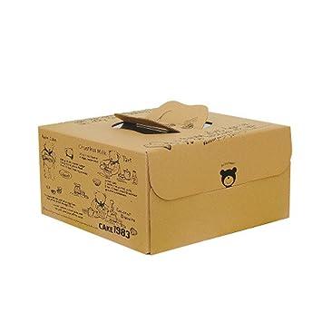 Tong Yue Juego de 2 Cajas de Papel Kraft para Pasteles ...