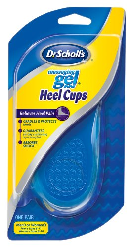 Dr. Scholl's Massaging Gel Heel Cups, Medium, 3 pair package