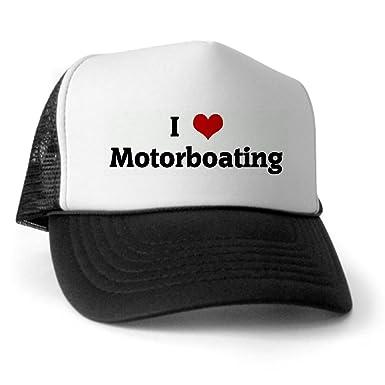 5ecfadc0d9645 Amazon.com  CafePress - I Love Motorboating Trucker Hat - Trucker ...