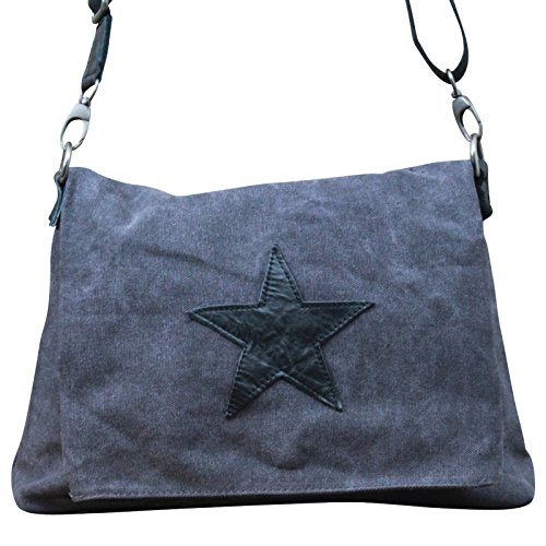 My-Musthave - Bolso de tela para mujer negro negro medium gris oscuro