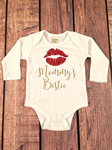Baby Girl Clothes Mommy's Bestie bodysuit baby girl shirt,sparkle Tee, going home outfit, newborn creeper, baby shower gift, mommy's mini