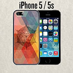 Sacred Geometric Art Fashionable Trendy Soft Rubber Slim Fitting Custom iPhone Case For iPhone 5 and 5S