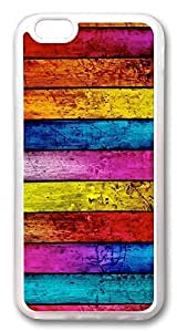 ACESR Colorful Hardwood New iPhone 6 Cases, TPU Case for Apple iPhone 6 (4.7inch) Transparent