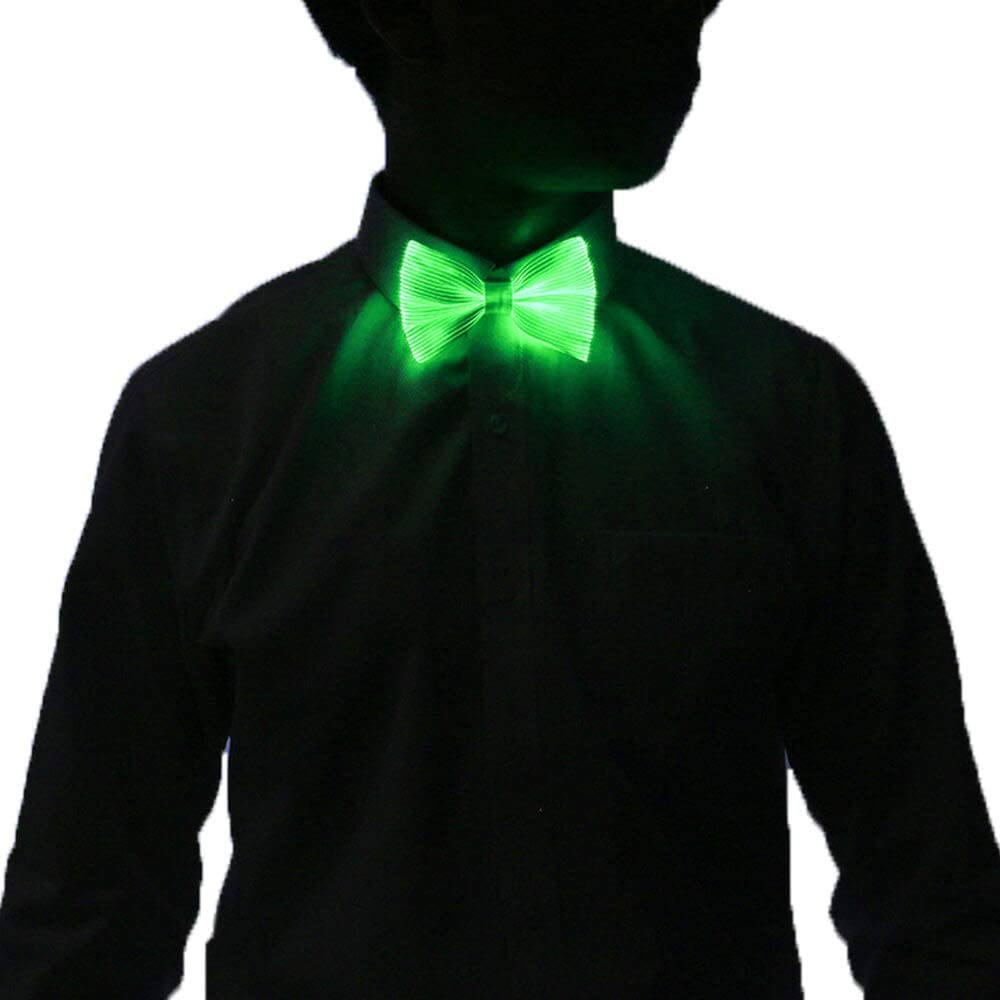 LED Flashing Light Up Sequin Bowtie Necktie Bow Tie Favors NEU Party Weddin V4Y0