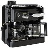 Delonghi BCO320T Combination 3-in-1 Machine, An All-in-One Cappuccino and Espresso Machine and Drip Coffee Maker-Black