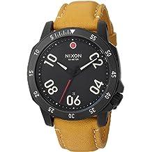 Nixon Men's A5082448-00 Ranger Leather Analog Display Quartz Orange Watch