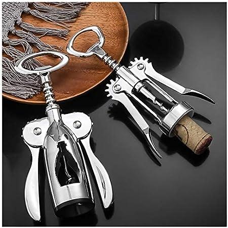 wantanshopping Abrebotellas Hogar Multifuncional Vino Rojo del sacacorchos sacacorchos sacacorchos de Plata Compacto con asa, adecuados for los camareros Sacacorchos (Size : A)