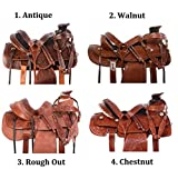 AceRugs All Natural Cowhide Western Leather Horse Saddle