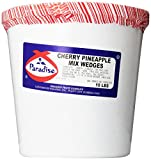 Paradise Cherry Pineapple Mix, Whole Cherry, Wedged, 10 Pound Tub