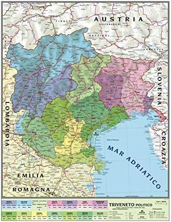 Cartina Dettagliata Veneto.Carta Geografica Murale Regionale Triveneto 100x140 Bifacciale Fisica E Politica Amazon It Cancelleria E Prodotti Per Ufficio