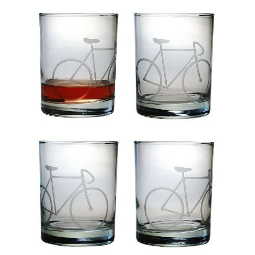Susquehanna Glass Bicycle 4-pc. Double Rocks Glass Set by Susquehanna Glass