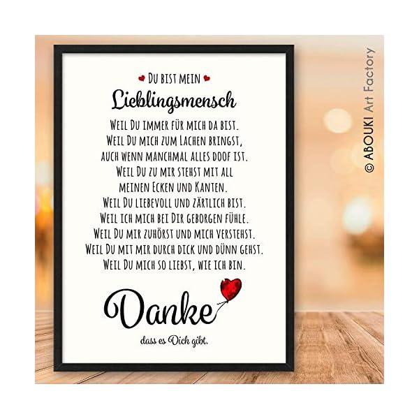 DANKE Liebeserklärung Danksagung ABOUKI Kunstdruck Poster