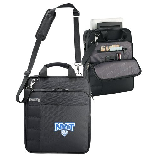 NYIT Kenneth Cole Black Vertical Checkpoint Friendly Messenger 'Primary Mark' by CollegeFanGear