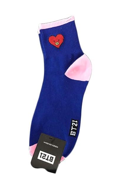 AILIENT BTS Mujer Calcetines Ocasionales Impresos pares la más alta calidad mujeres y hombres Calcetines Termicos Mujer Calcetines Algodon Dibujos Animados ...