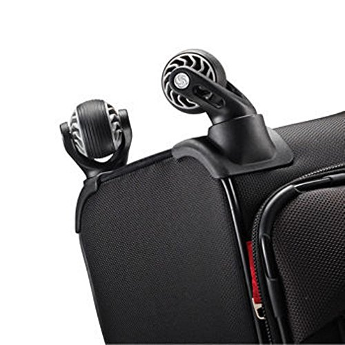 """Samsonite 2-pc Spinner Luggage Set 27"""" Check-in & 21"""" Carry-on Super Light Weight 4 Wheel Suitcase -Black"""
