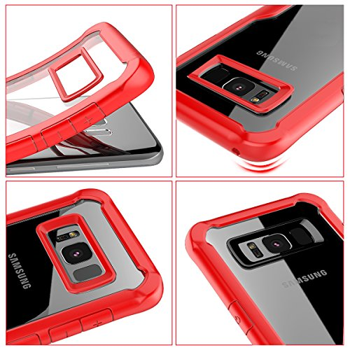 Funda Samsung Galaxy S9 Plus, Moonmini Ultra Slim Transparente Suave TPU Gel Silicone Bumper Anti-rasguños Funda Protectora a prueba de golpes del Teléfono Carcasa para Samsung Galaxy S9 Plus (Gris) rojo