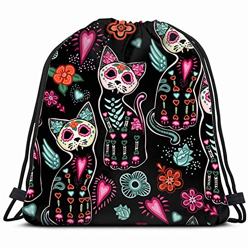 day dead halloween beauty fashion holidays Drawstring Backpack Gym Sack Lightweight Bag Water Resistant Gym Backpack for Women&Men for Sports,Travelling,Hiking,Camping,Shopping Yoga]()