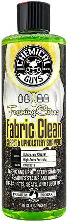 Chemical Guys CWS20316 Foaming Citrus Fabric Clean Carpet & Upholstery Shampoo (16oz), 16 Fluid Ou