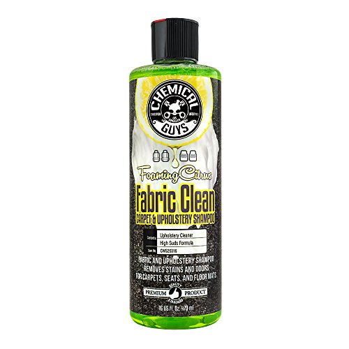 Chemical Guys CWS20316 Foaming Citrus Fabric Clean Carpet & Upholstery Shampoo (16oz), 16. - Seat Truck Upholstery
