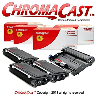 ChromaCast Single DR350 Drum Unit & Three TN350 Toner Cartridges ? Replacement for Brother DR-350 & TN-350 - Compatible with Brother DCP-7020, Fax-2820, HL-2040, HL-2070N, IntelliFax-2820, IntelliFax-2910, IntelliFax-2920, MFC-7220, MFC-7225N, MFC-7420, M