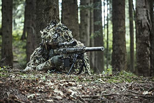 Posterazzi PSTZAB101986M United States Army Ranger Sniper Wearing Ghillie Suit Photo Print, 11 x 17, Multi