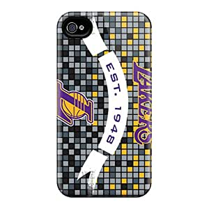 Durable Protector Case Cover With Los Angeles Lakers Hot Design For Iphone 4/4s