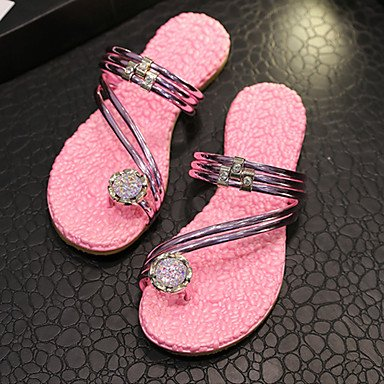 SHOES-XJIH&Uomini sandali Comfort suole di luce PU Estate informale comfort suole di luce di cioccolato nero Flat,cioccolato,US9.5 / EU42 / UK8.5 / CN43