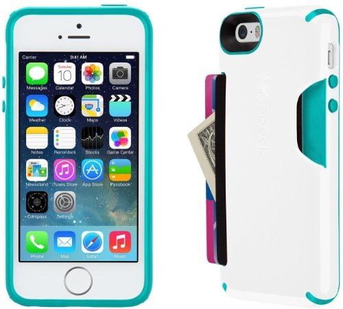 Speck Products CandyShell Card Case for iPhone 5/5S - White/Caribbean Blue by Speck (Image #2)