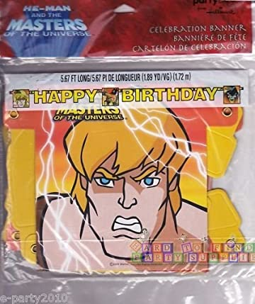 Amazon He Man And The Masters Of The Universe Banner Toys Games