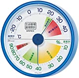 EMPEX ( Enpekkusu ) life management TM-2416 Clear Blue for wall hanging temperature and hygrometer