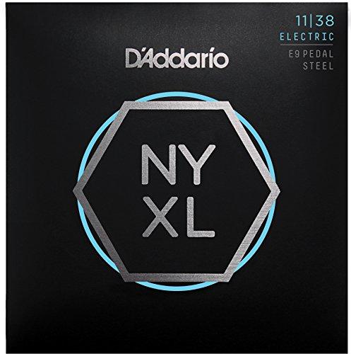 D'Addario NYXL1138PS Nickel Wound Pedal Steel Guitar Strings, Regular Light, 11-38