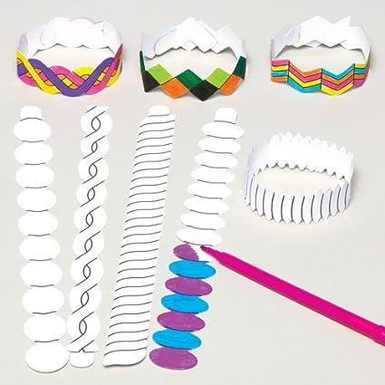 Baker Ross Nuevos brazaletes para Colorear Que los Niños Pueden ...