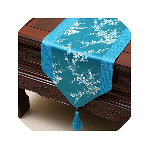 Satin Table Runner Table Flag Table Cloth Simple China Wind Tea Table Runners Bed Flag Home Decoration,33X230Cm,01