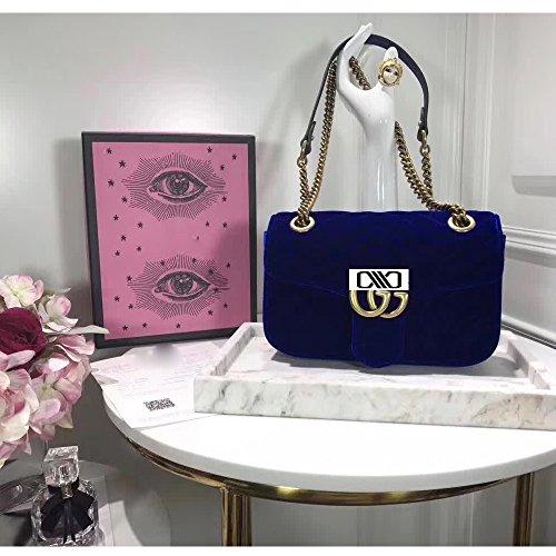 (Marmont Cross-body Bag for Womens Handbag Designer Fashion Single Shoulder Messager Bags-sapphire blue)