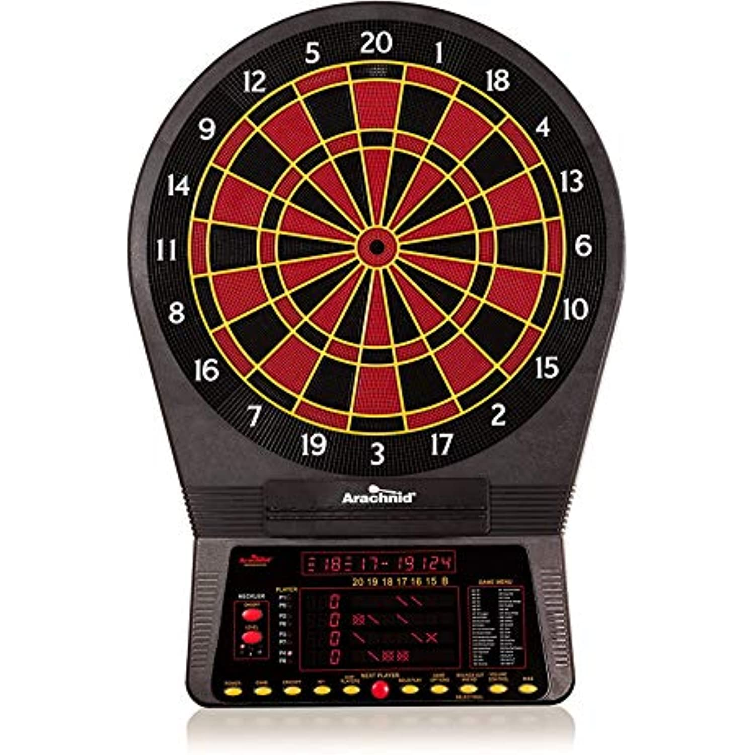 Arachnid Cricket Pro 800 Electronic Dartboard with NylonTough Segments for Improved Durability and Playability and Micro-thin Segment Dividers for ReducedBounce-outs , Black