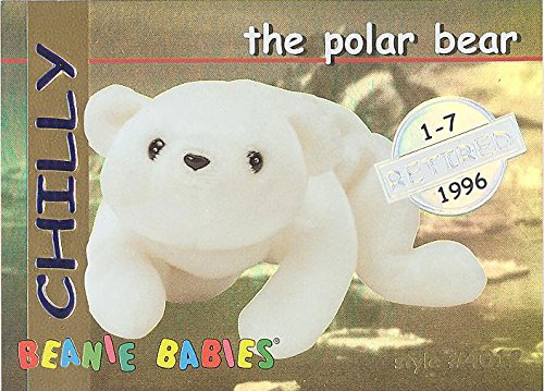 BBOC Cards TY Beanie Babies Series 1 Retired (Silver) - Chilly The Polar Bear