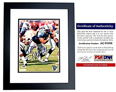 Bruce Matthews Autographed Tennessee Titans 8x10 Photo Black Custom Frame - PSA/DNA Authentic