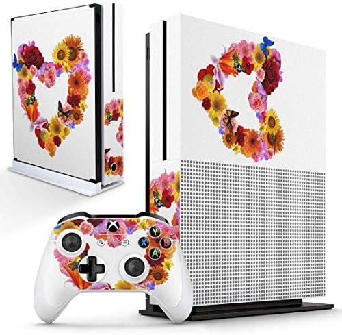 igsticker Xbox One S 専用 スキンシール 正面・天面・底面・コントローラー 全面セット エックスボックス シール 保護 フィルム ステッカー 003195