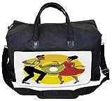 Lunarable Vintage Modern Gym Bag, 60s Couple Dancing, Large Weekender Carry-on