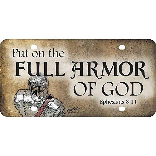 Put on Full Armor of God 12 x 6 Inch Plastic License Plate