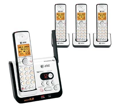 amazon com at t cl82409 dect 6 0 cordless phone black silver 4 rh amazon com AT&T Cl82463 DECT 6.0 AT&T CL82409