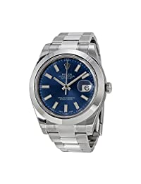 Rolex Datejust II Blue Dial Stainless Steel Automatic Mens Watch 116300BLSO by Rolex